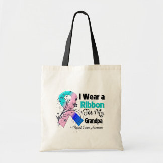 Grandpa - Thyroid Cancer Ribbon Budget Tote Bag