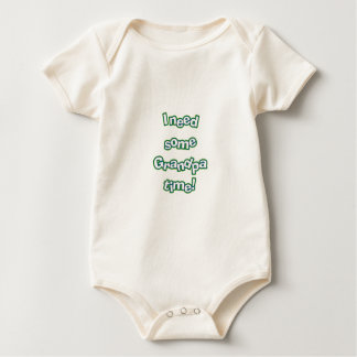 Grandpa time baby bodysuit