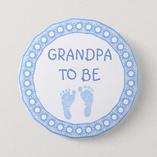 Grandpa to be Blue Boy Baby Shower button