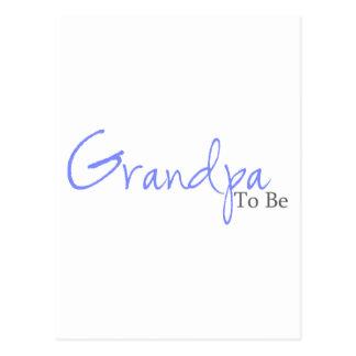 Grandpa To Be (Blue Script) Postcard