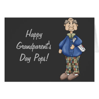 Grandpa with Newspaper Design Greeting Card