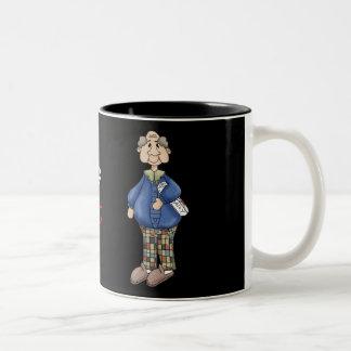 Grandpa with Newspaper Design Coffee Mugs