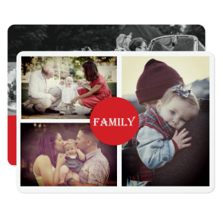 Grandparent  3 Family Holiday Photo Card