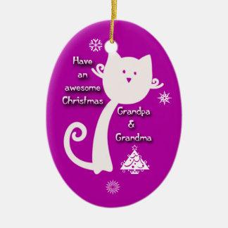 Grandparent Kitty Ornament