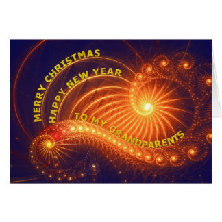 Grandparents, a Christmas wish Greeting Card