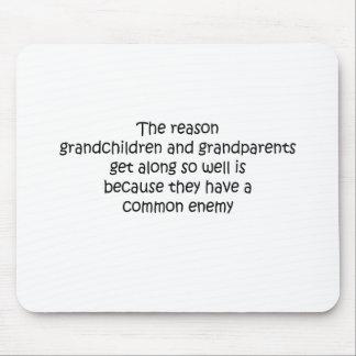 Grandparents and Grandchildren quote Mouse Pad