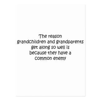 Grandparents and Grandchildren quote Post Cards
