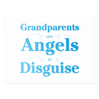 Grandparents are Angels in Disguise Postcard