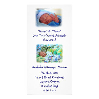 Grandparents Birth Announcements Baby Birth Photo Cards