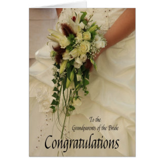 grandparents bride congratulations card