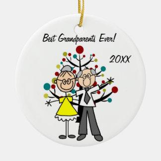 Grandparents Custom Holiday Ornament