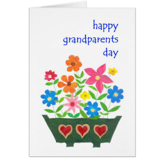 Grandparents Day Card - Flower Power