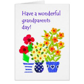 Grandparents Day Card - Flower Power