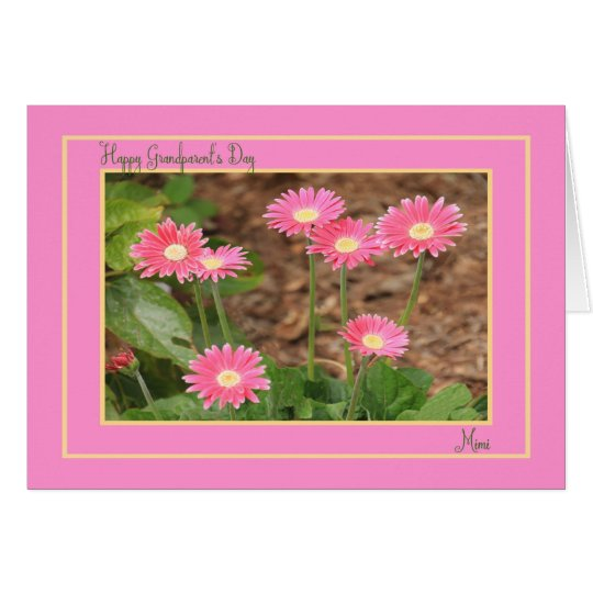 Grandparent's Day Card for Mimi with Pink Daisies