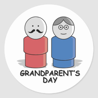 Grandparents Day Classic Round Sticker