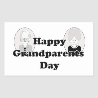 Grandparents Day - Couple Rectangle Stickers