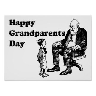Grandparents Day - Grandpa And Child Poster