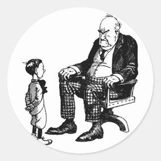Grandparents Day - Grandpa And Child Round Sticker