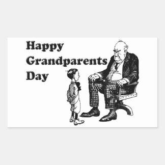 Grandparents Day - Grandpa And Child Rectangular Sticker