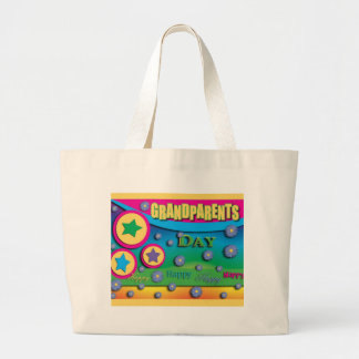 Grandparent's Day, Stars and Blue Flowers Bags