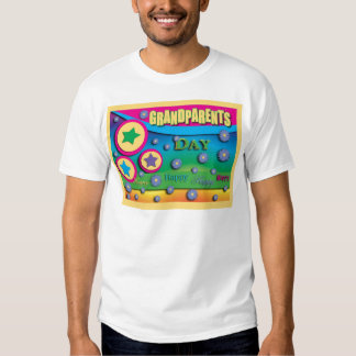 Grandparent's Day, Stars and Blue Flowers T Shirt