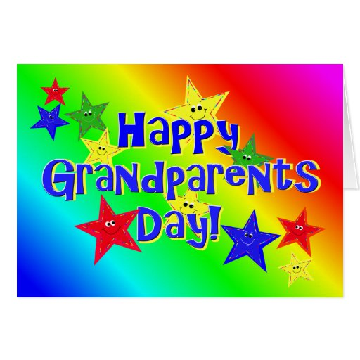 Grandparents Day Stars Card