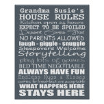 Grandparents House Rules - Customise Yours! Poster