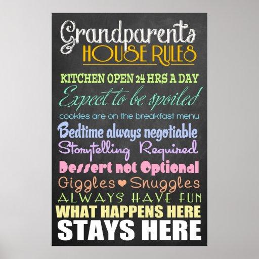 Grandparents House Rules Print
