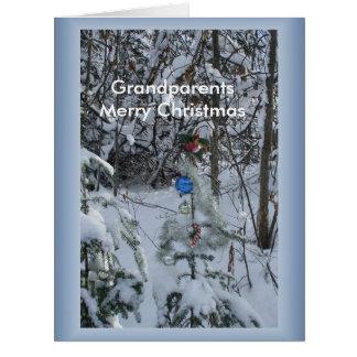 Grandparents Merry Christmas Framed Big Greeting Card