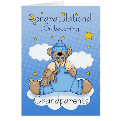 Grandparents New Baby Boy Congratulations Cards