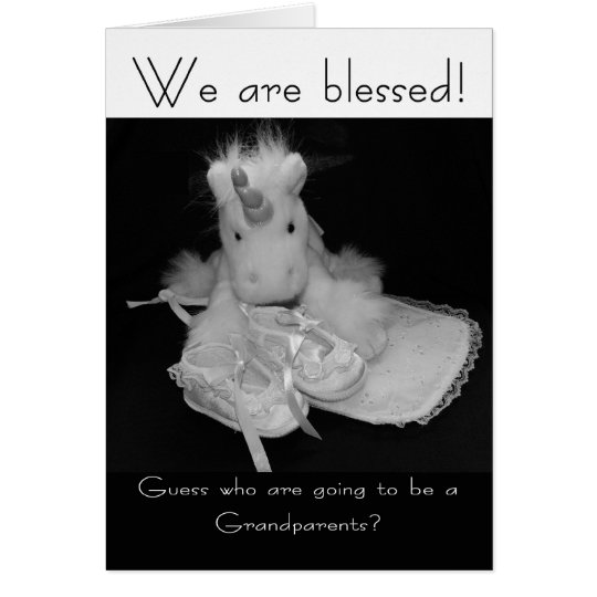 Grandparents new baby we are blessed card