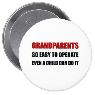 Grandparents Operate 10 Cm Round Badge