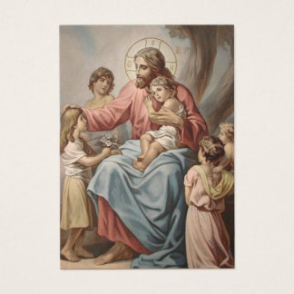 Grandparents Prayer Jesus w/Children Business Card
