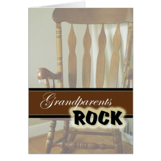 Grandparents Rock-Happy Grandparents Day Greeting Card