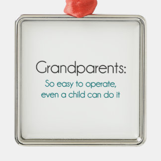 Grandparents So Easy To Operate Christmas Ornaments