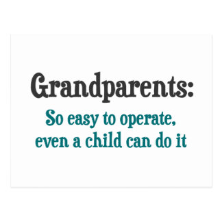 Grandparents So Easy To Operate Postcards