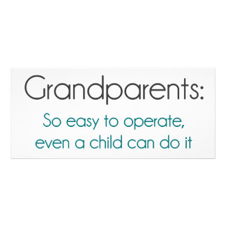 Grandparents So Easy To Operate Personalized Rack Card