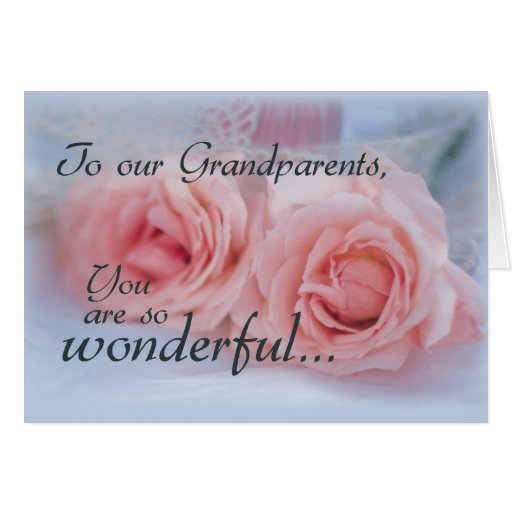 Grandparents Thank You, Wedding, Roses Card