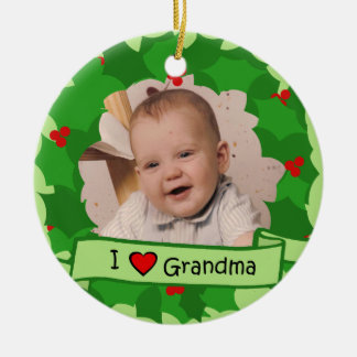 Grandparents Wreath Round Ceramic Decoration