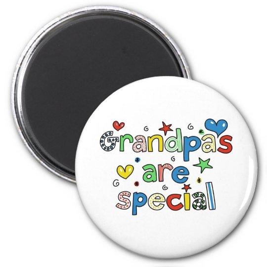 Grandpas are Special 6 Cm Round Magnet