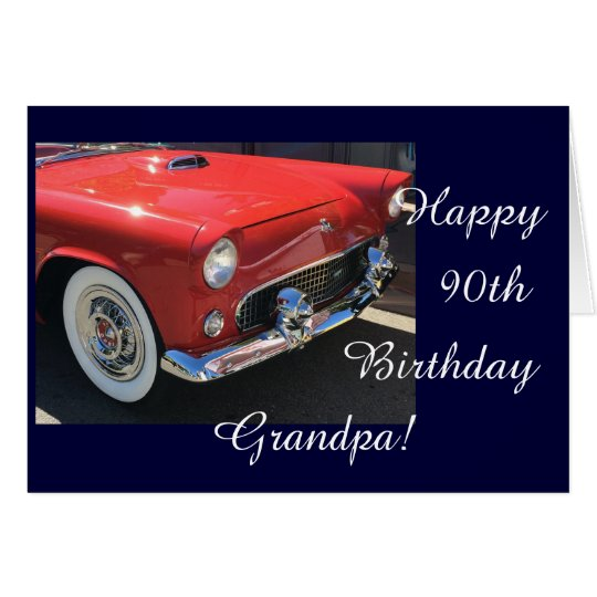 Grandpa's birthday - Antique car Card