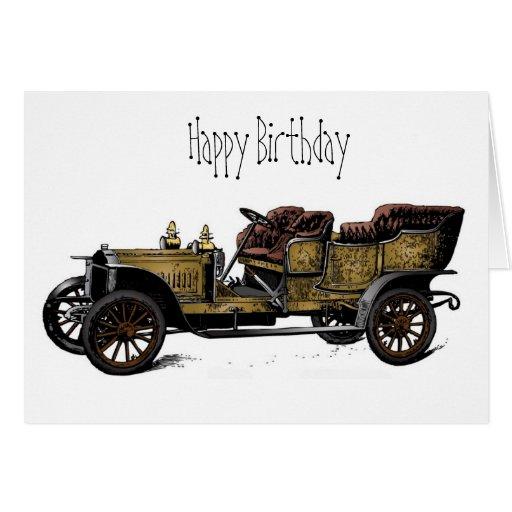Grandpa's Car Happy Birthday Card Card