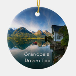 Grandpa's Dream too Round Ceramic Decoration