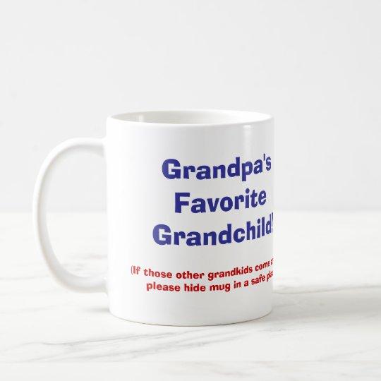 Grandpa's Favourite Grandchild! Coffee Mug