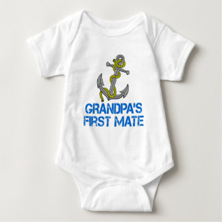 Grandpa's First Mate Baby Bodysuit