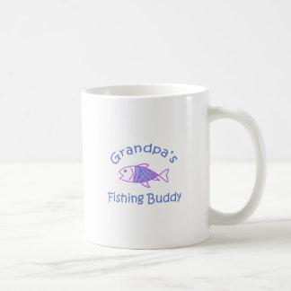 GRANDPAS FISHING BUDDY BASIC WHITE MUG