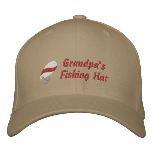 Grandpa's Fishing Hat Custom Personalised Embroidered