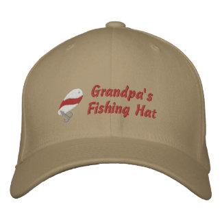 Grandpa's Fishing Hat Custom Personalized Embroidered Baseball Caps