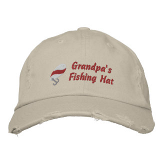 Grandpa's Fishing Hat Customi Personalized Embroidered Hat