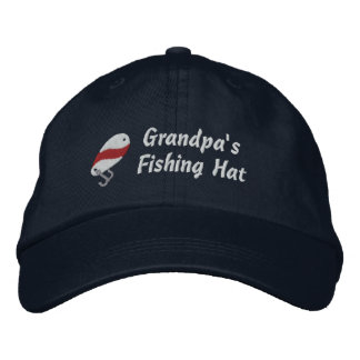 Grandpa's Fishing Hat Customizable Name